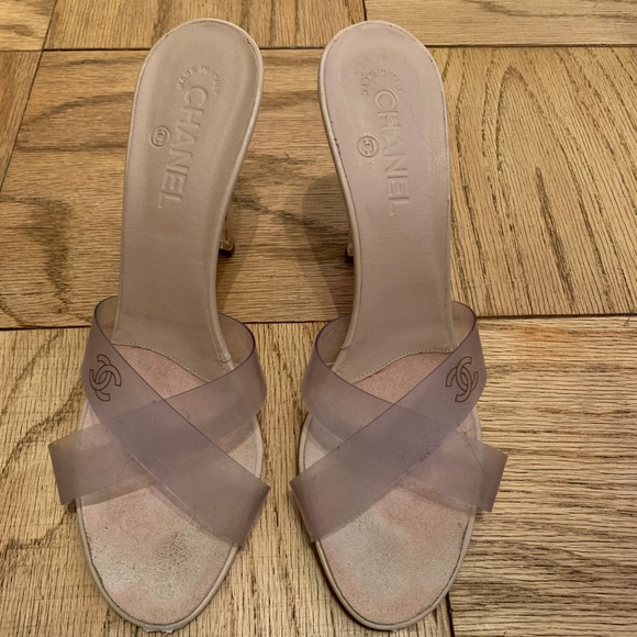 d6b7a664ba1 CHANEL Clear Transparent PVC Mules size 42 🔥🔥
